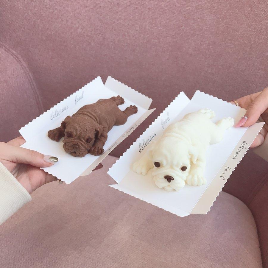 子犬型スイーツ シャーペイケーキ