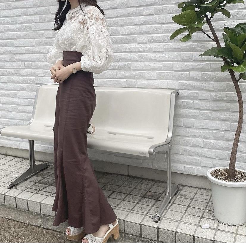 マーメイドスカートコーデ 秋カラー