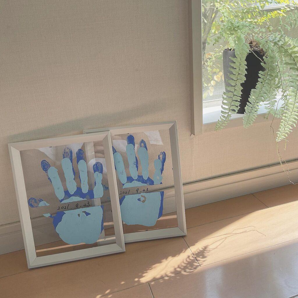 手形アート クリアフレーム